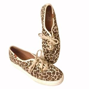 Keds animal print platform canvas sneakers 6.5 EUC